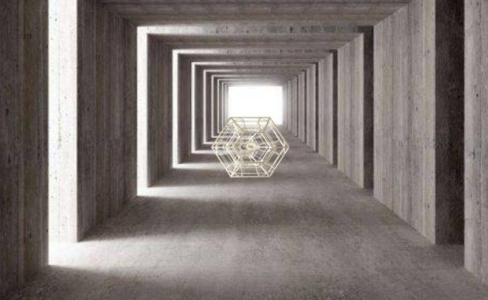 Фотообои для потолка с архитектурным сюжетом