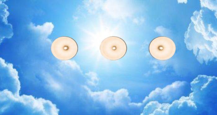 Потолочные фотообои с изображением неба – самый популярный вариант